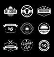 set of restaurant shop design elements in vintage vector image