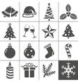 Christmas icons set - Simplus series vector image