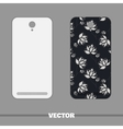 Phone Cover White Flowers On Dark vector image