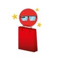 smart glasses red bag gift star design vector image