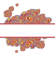 lilac orange pattern with strip white vector image vector image