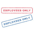 employees only textile stamps vector image