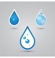 water drops set vector image