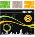music backgrounds vector image vector image