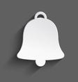 White 3d Christmas bell vector image