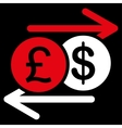 Money Exchange icon from Business Bicolor Set vector image