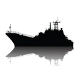 detailed ship silhouette vector image vector image