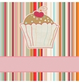 Retro Cupcake Card vector image