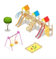 Playground Playground slide theme elements vector image