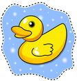 cartoon yellow duck vector image