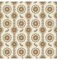 Henna floral seamless pattern vector image