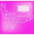 Pink background with pegasus vector image