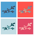 set of flat leaves logo template vector image