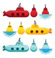 Submarine Cartoon Style vector image