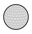ball golf sport play icon vector image