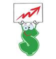 Cartoon dollar sign vector image vector image