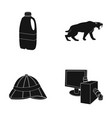 technology  adventure and or web icon in black vector image