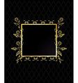 Gold square floral frame vector image