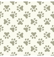 Cat or dog paw seamless pattern vector image