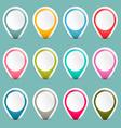 Empty Colorful Retro Paper Labels Set vector image vector image