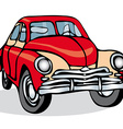 Russian Soviet vintage car on a white background vector image