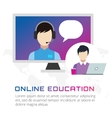Online education icons Webinar school vector image