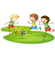 Kids Soccer Match vector image vector image