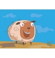 Funny sheep on the meadow vector image
