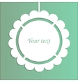 abstract design with paper frame vector image