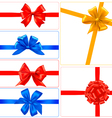 big set of color gift bows with ribbons vector image