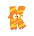 cartoon character monster letter k vector image