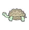 comic cartoon tortoise vector image