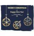 dark Merry Christmas and New Year background vector image