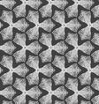 Gray dotted trefoil flower vector image