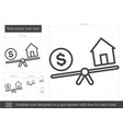 real estate loan line icon vector image