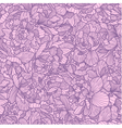 Seamless peony pattern vector image