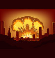 war and damages after big explosion in the city vector image