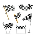 Checkered flags set vector image vector image