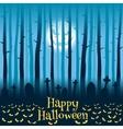 Halloween cemetery in moonlight vector image