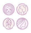 female logos vector image vector image