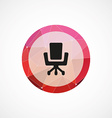 Office chair circle pink triangle background icon vector image