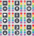 New Pin Message Signpost Train Picture Lock SMS vector image