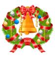 christmas wreath vector image vector image