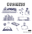 Business finance and transportation icon set vector image vector image