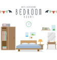 White Background Bedroom vector image