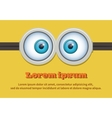 Cartoon two eyes glasses or goggles vector image