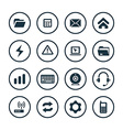 computer icons universal set vector image