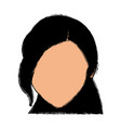 default woman avatar people female icon vector image