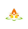 eco people flower abstract yoga logo vector image