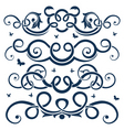 floral design element collecti vector image